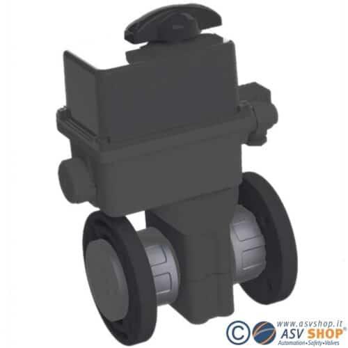 Valvola a sfera C10 in PVC con servomotore elettrico