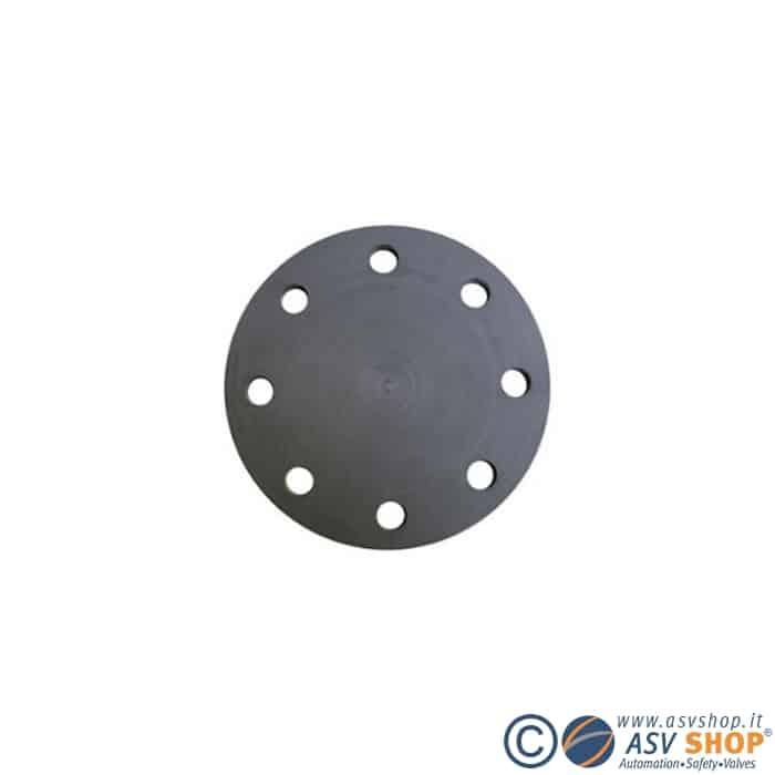Flangia cieca in PVC o in acciaio con rivestimento in PP