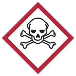 pittogramma altamente tossico ghs 6