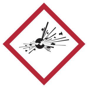 pittogramma rischio esplosione ghs 1
