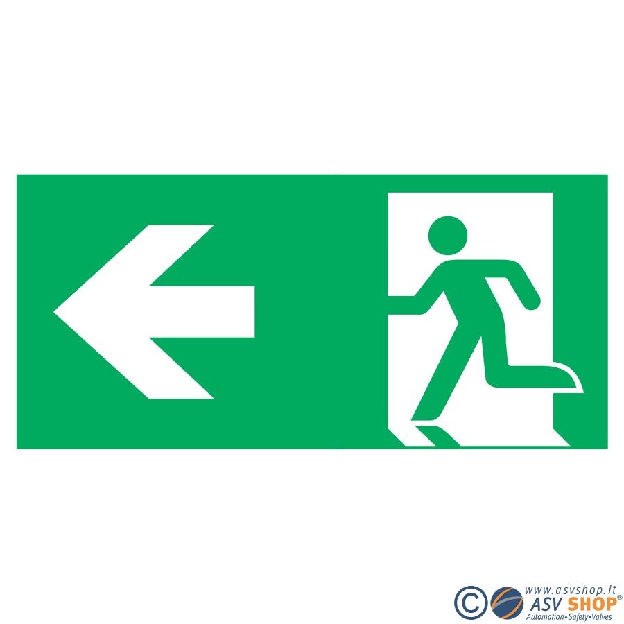 Simbolo via di fuga a sinistra