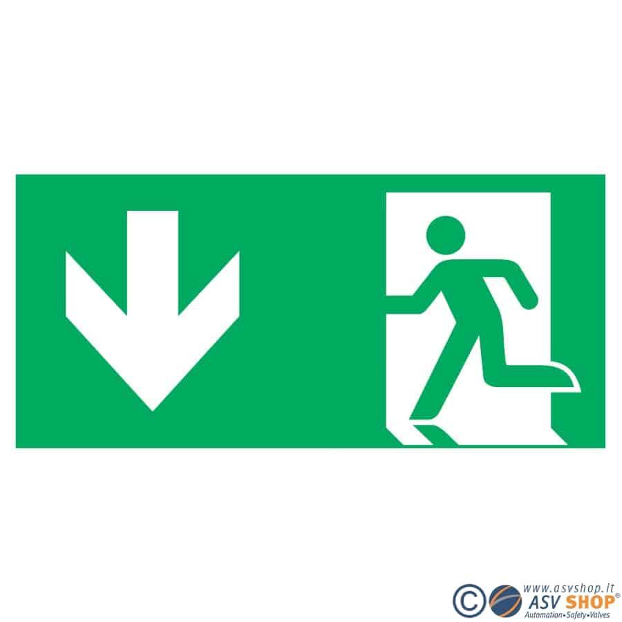 Simbolo Via di fuga verso il basso