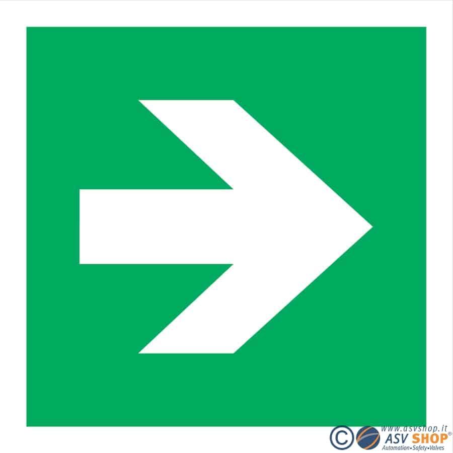 Simbolo Via di fuga a destra