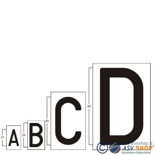 Lettere e numeri adesivi