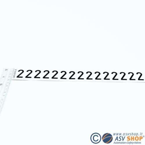 Lettere e numeri adesivi da 25mm strisce da 15 lettere