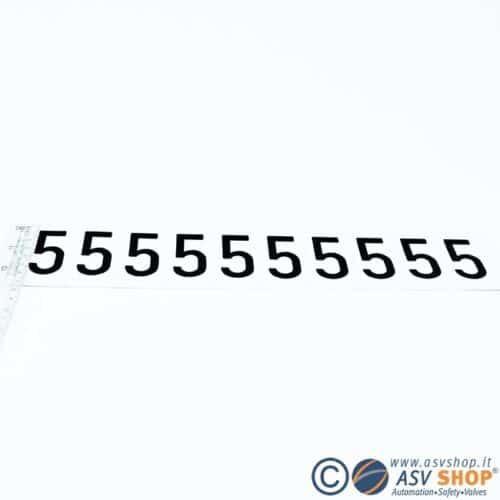Lettere e numeri adesivi da 50mm