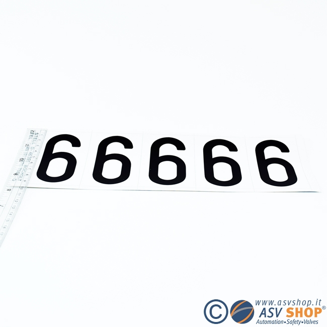 Lettere numeri adesivi 80mm in strisce