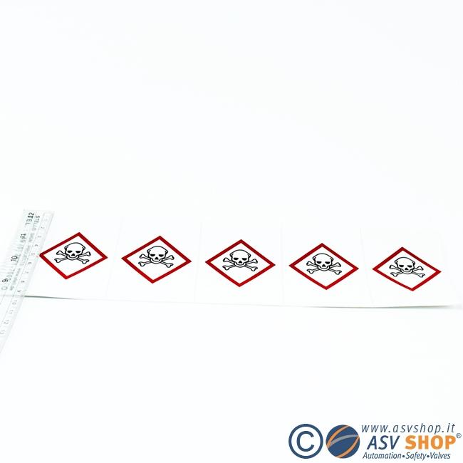 Simboli adesivi 80mm in strisce