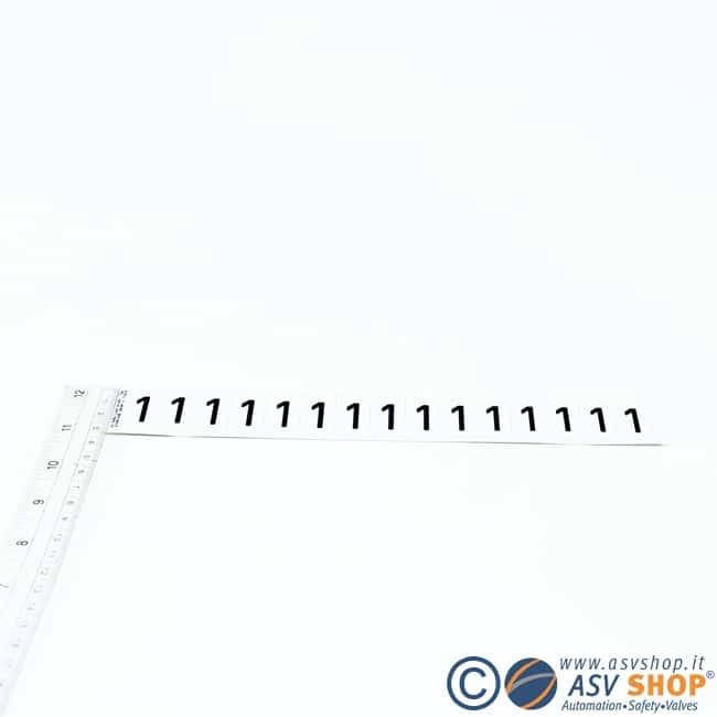 Lettere e numeri adesivi da 15mm strisce da 15 lettere
