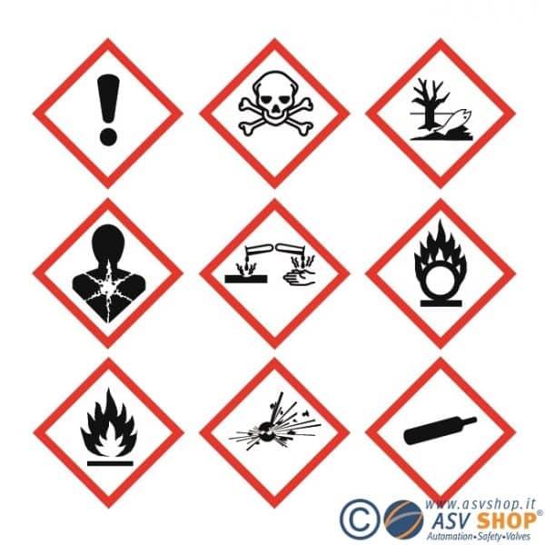 Segnaletica di pericolo GHS. Gruppo dei cartelli