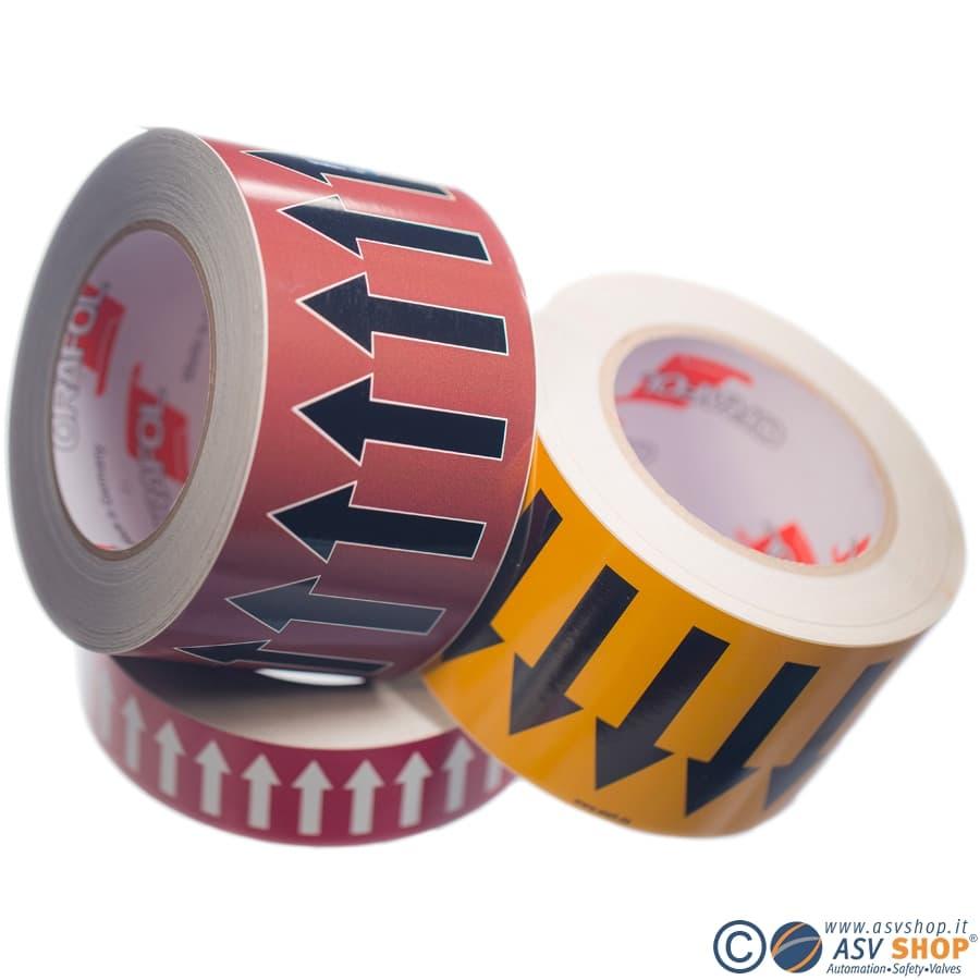 Rotoli adesivi con nastri colorati per tubi