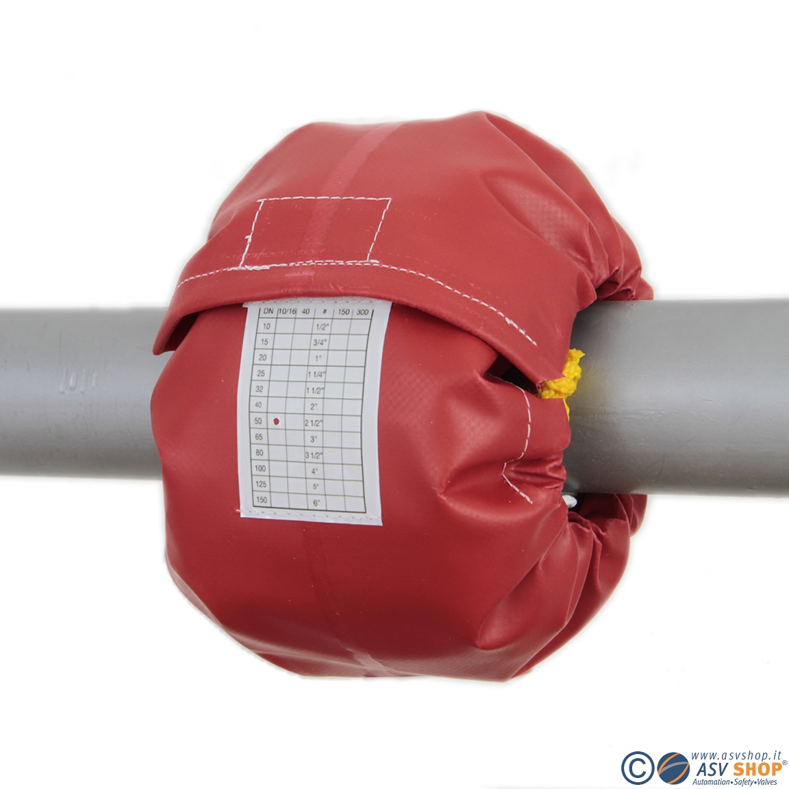 copriflange rosso per acido cloridrico e soda caustica