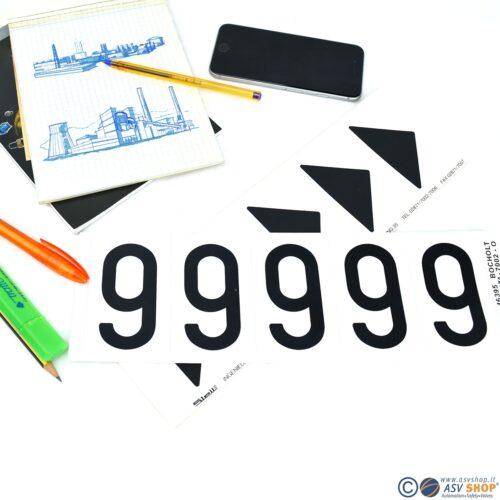Lettere e numeri adesivi da 80mm