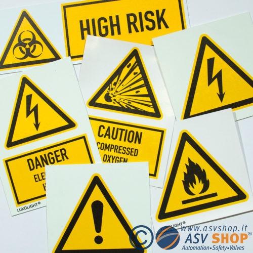 Segnaletica di pericolo UNI ISO 7010