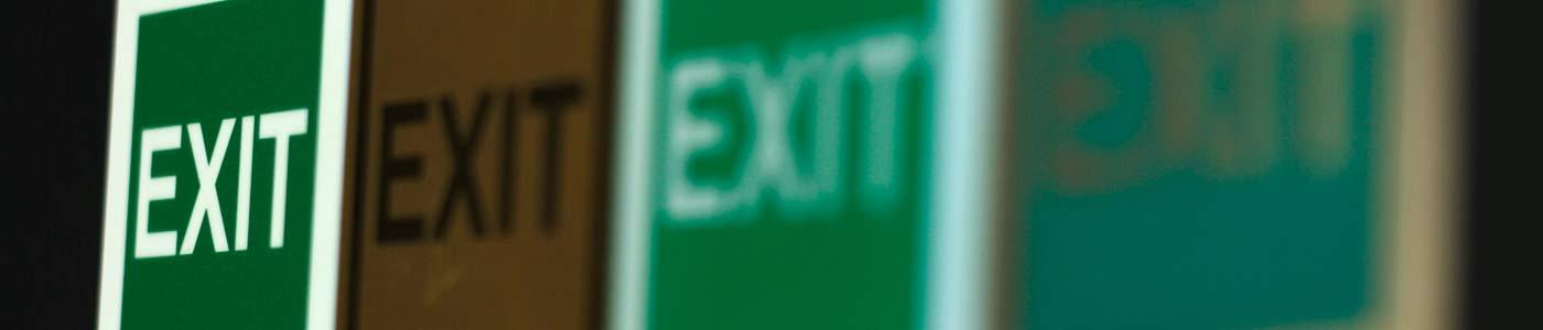 Vie di fuga e Simbologia Exit