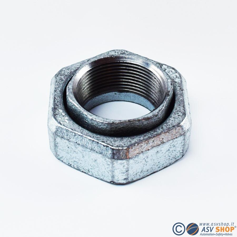 Connessione zincata per flussimetri
