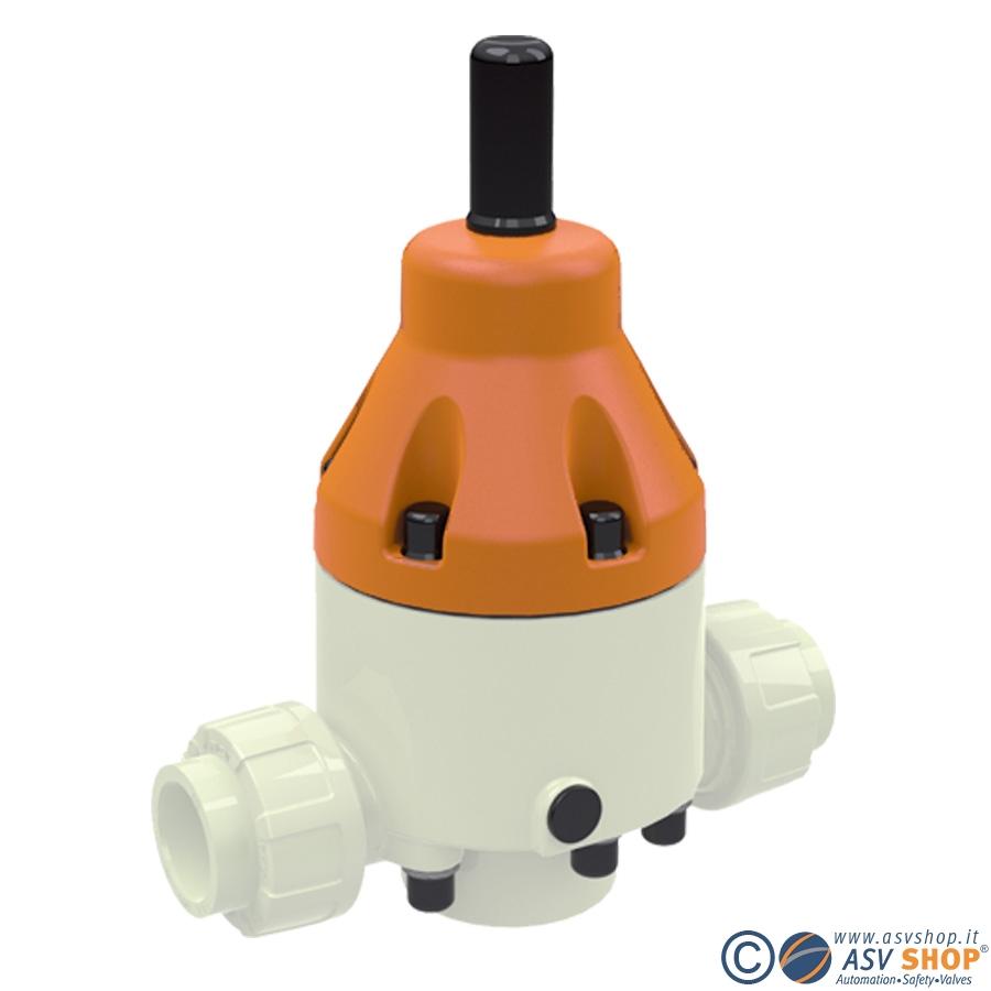 Valvole di sfioro in PVDF DHV 712-R