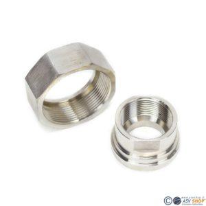 collarino e ghiera in acciaio flussimetri