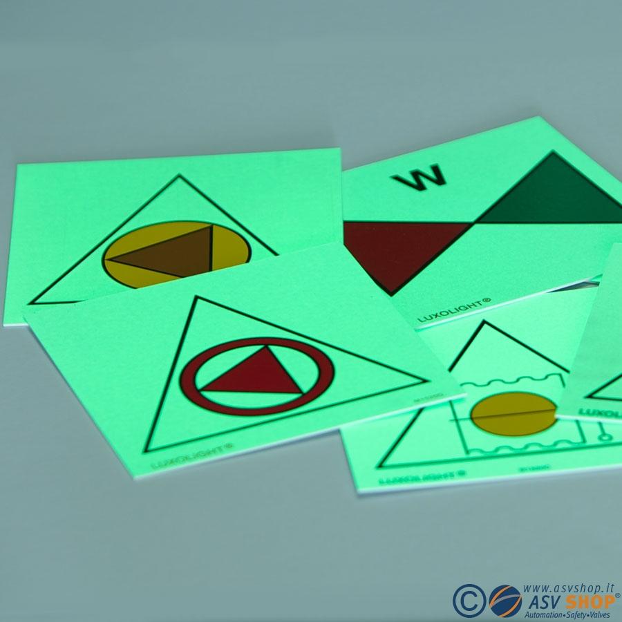 Simboli Etichette IMO Fire control sign adesivi