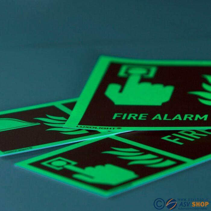 Etichette IMO Fire fighting sign adesivi fotoluminescenti