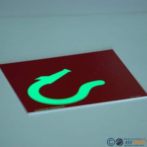 Etichette IMO Fire control sign adesivi fotoluminescenti