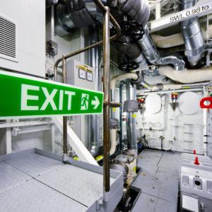 Segnaletica navale antincencio sala macchine, cartello sala pompe