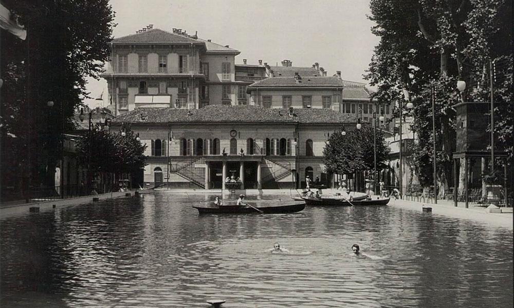 piscina di lusso 800 Milano bagni di diana