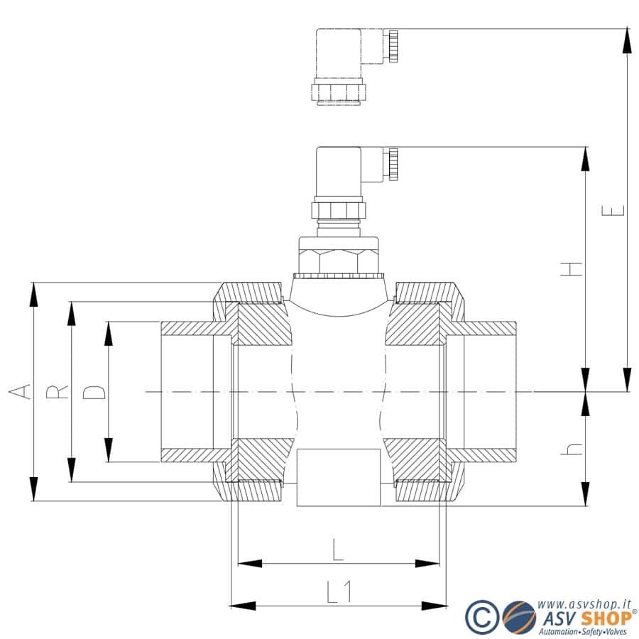 Adattatore per il montaggio in linea del sensore Bamoflu, disponibile su ASVShop!