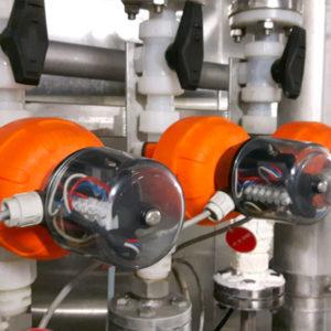 impianto lavaggio cip con valvole a membrana e valvole a sfera in plastica