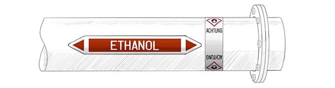 etichette tubazioni identificazione