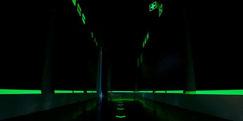 sistema low location lighting vie di esodo