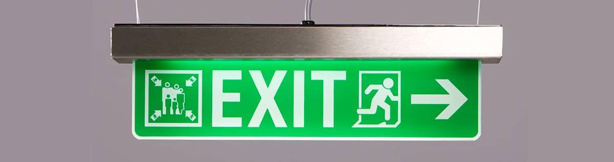 indicazioni uscita di emergenza LED