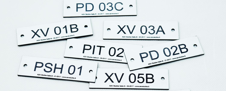 marcatori valvole per impianti industriali