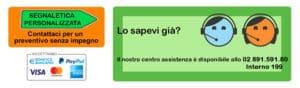 contattaci per info su segnaletica personalizzata