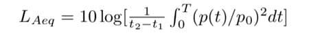 calcolo del livello sonoro continuo equivalente