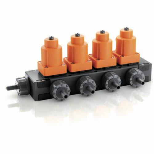blocco valvole modulare in PVDF, PP, PVC